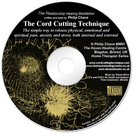 The Cord Cutting Technique Healing Meditation CD lightscribe label