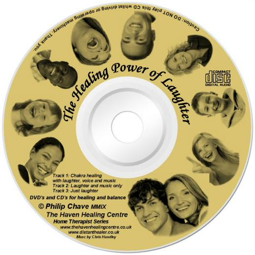 The Healing Power of Laughter CD lightscribe label