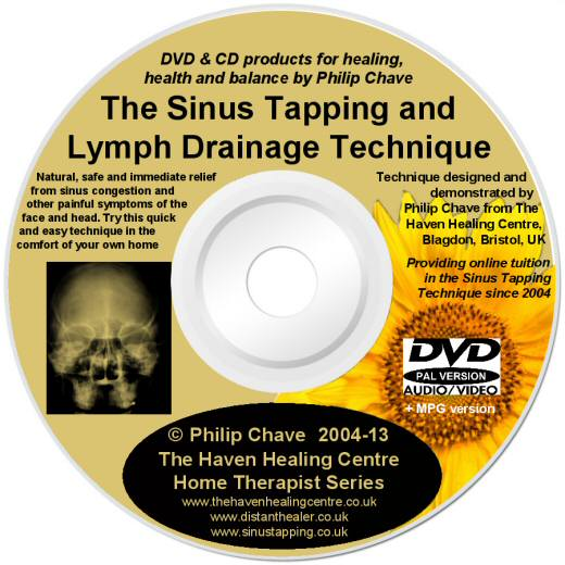 The Sinus Tapping Technique DVD lightscribe label